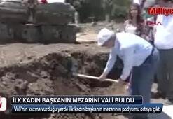 Dünyanın ilk kadın belediye başkanının anıt mezarı bulundu