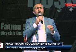 Adalet Bakanı Gül: Teröristlerin başına bu dünyayı yıkacağız