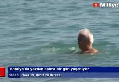 Antalya'da yazdan kalma bir gün yaşanıyor