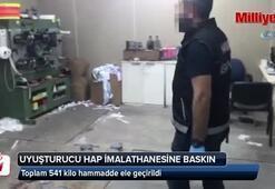 Bayrampaşa ve Beylikdüzü'nde uyuşturucu hap imalathanesine polis baskını