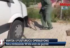 Yolcu minibüsünde 141 kilo eroin ele geçirildi