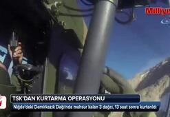 TSK, Aladağlar'da mahsur kalan 3 dağcıyı kurtardı
