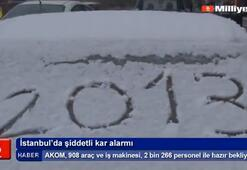 İstanbulda şiddetli kar alarmı