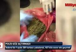 Adana'da 1 ayda 381 torbacı yakalandı, 107 kilo esrar ele geçirildi