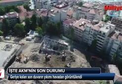 Atatürk Kültür Merkezinin son durumu havadan görüntülendi