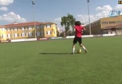 Kayserisporlu genç yıldız Emre Demir PSG idmanında