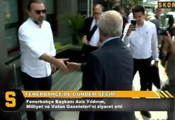 Aziz Yıldırım, Milliyet Gazetesini ziyaret etti