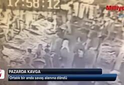 İstanbul'da pazarcıların silahlı çatışması kamerada