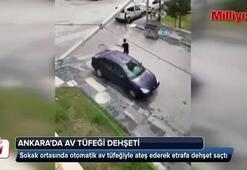Başkent'in ortasında av tüfeği dehşeti kamerada