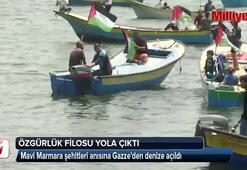 Filistinliler, Mavi Marmara anısına Gazzeden teknelerle denize açıldı