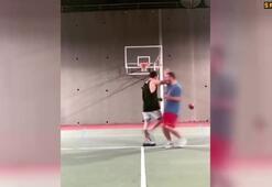 Murat Dalkılıçtan basketbol şov