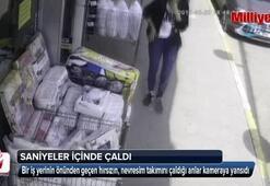 Üsküdar'da nevresim takımı hırsızlığı kamerada