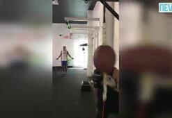 Adriana Lima'dan boks şov
