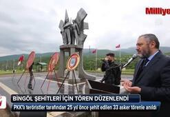 Bingölde şehit edilen 33 asker anıldı