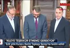 524 yıllık Kuran-ı Kerim tekrar Topkapı Sarayında