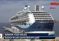 Sezonun ilk yolcu gemisi Bodruma geldi
