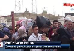 Öncüpınarda Suriyelilerin bayram hareketliliği