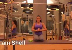 Kalça sıkılaştırmak için en etkili yöntem: Clam shell