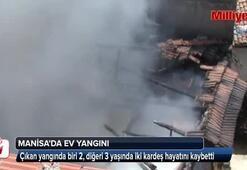 Manisada korkutan ev yangını