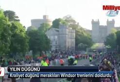 Kraliyet düğünü meraklıları Windsor trenlerini doldurdu