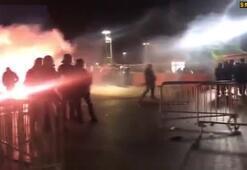 Marsilya taraftarı maç sonu polisle çatıştı