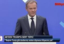 AB'den Trump'a sert tepki