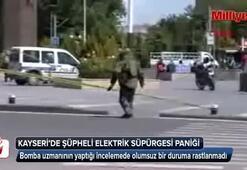 Kayseride şüpheli elektrik süpürgesi paniği