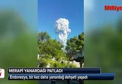 Endonezyadaki Merapi Yanardağı patladı