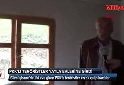 PKKlı teröristler yayla evlerinden erzak çaldı