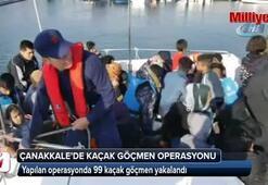 Çanakkale'de 99 kaçak göçmen yakalandı