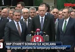 Cumhurbaşkanı Erdoğan ve BBP lideri Desticiden ilk açıklama