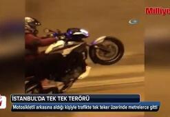 İstanbul'da çift kişilik tek tek terörü kamerada