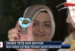Zahide Yetişten Aras bebeğe baby shower partisi
