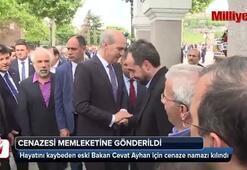 Eski Bakan Cevat Ayhan için cenaze namazı kılındı
