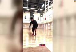 Nusret hünerlerini basketbolda gösterdi