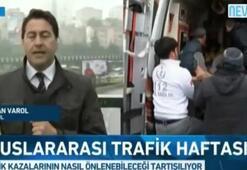 Canlı yayında trafik kazaları anlatılırken kaza oldu