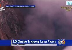Volkan patladı, lavlar 38 metreye çıktı