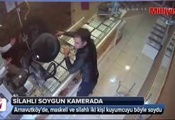 Arnavutköy'deki silahlı kuyumcu soygunu kamerada