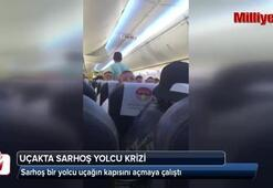 Uçakta sarhoş yolcu krizi