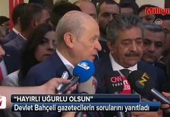 Devlet Bahçeli gazetecilerin sorularını yanıtladı