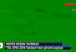 TSK, EFES 2018 Tatbikatından görüntü paylaştı