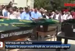 Kazada yaşamını yitiren 5 kişilik aile toprağa verildi