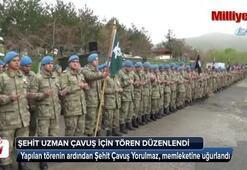 Şehit asker için Hakkari'de tören düzenlendi