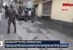 Gaziantepte PKK operasyonu