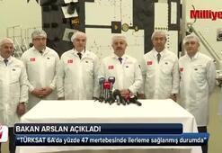 Bakanlar Arslan ve Özlü TÜRKSAT 6Ayı inceledi
