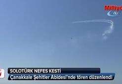 Şehitler Abidesinde Solo Türkün gösterisi nefesleri kesti