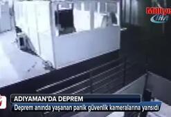 Deprem anında yaşanan panik güvenlik kameralarına yansıdı