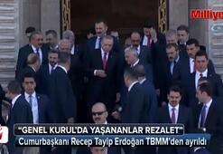 Cumurbaşkanı Recep Tayip Erdoğan TBMMden ayrıldı