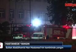 Sultan Abdülhamid Han Hastanesi'nin kantininde yangın