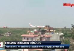 Yolcu uçağı pistten çıktı